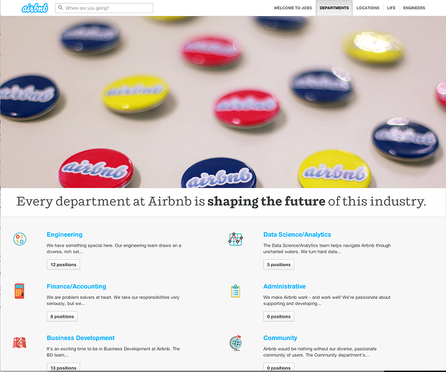 airbnb careers page