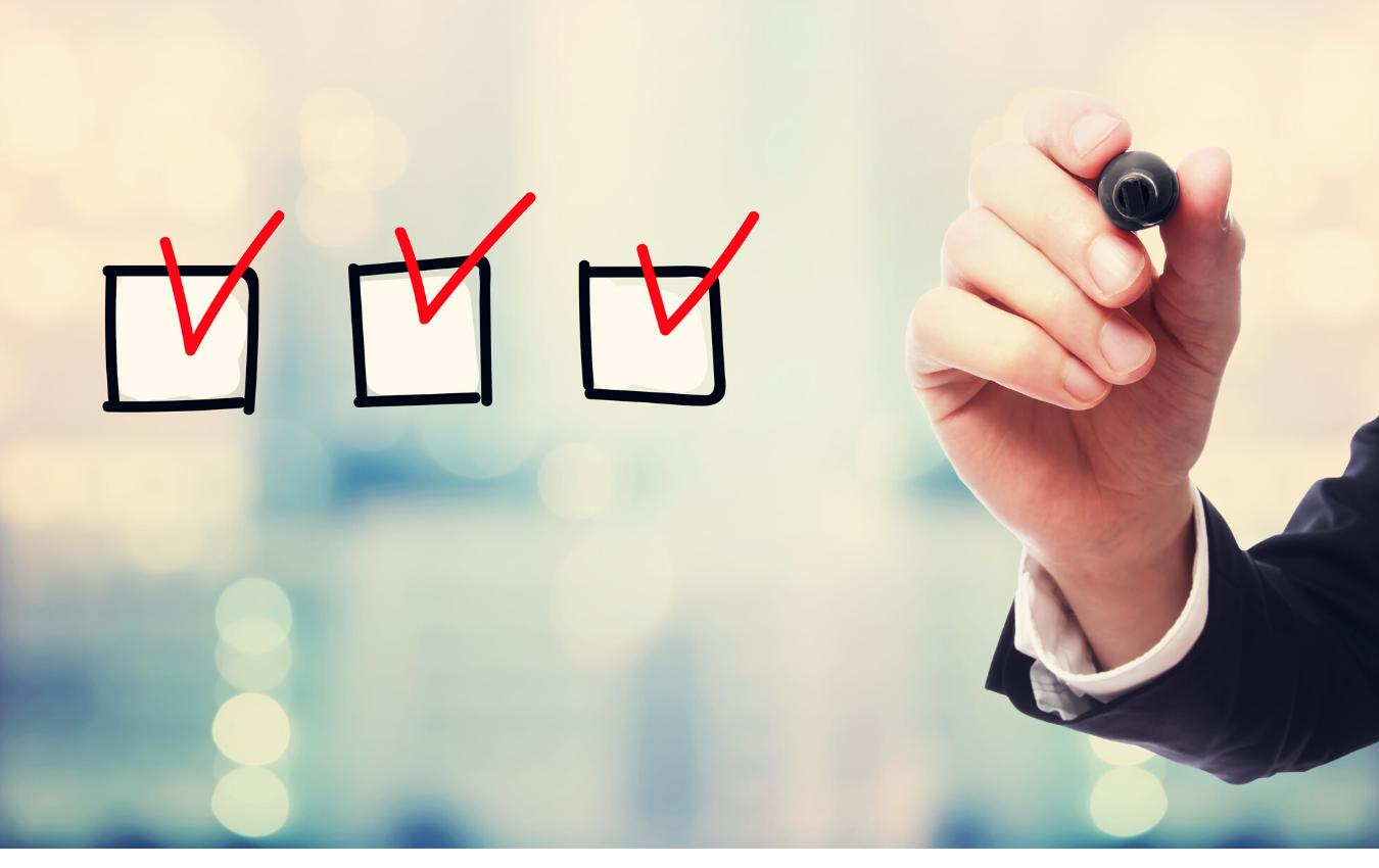 vendor checklist